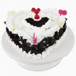 Heart shape Black forest Cream Cake for Baroda