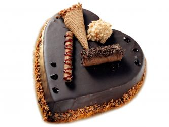 Heart Shape Chocolate Cake for Hyderabad