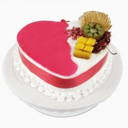Heart shape Mix Fresh Fruit Cake for Jaipur