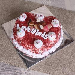 Heart Shape Red Velvet Cake for Delhi