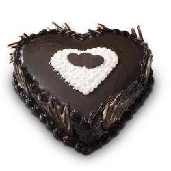 Heart Shape Truffle Cake for Gurgaon