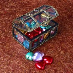 Heart Shaped Chocolate in a Treasure Box for North Goa