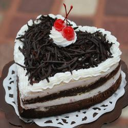 Heartshape Black Forest Cake for Hyderabad