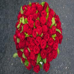 Hundred Red Roses Bunch for Madras