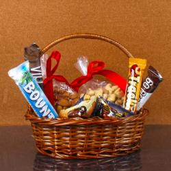 Imported Chocolates with Dry Fruit Basket for Baroda