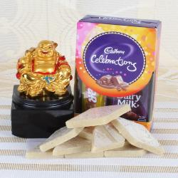 Laughing Buddha and celebration Pack with Sweets for Indore