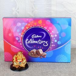 Laughing Buddha with Cadbury Celebrations Chocolate Pack for Mumbai
