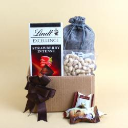Lindt Excellence Strawberry and Al alwani Dates with Cashew Nuts for Delhi