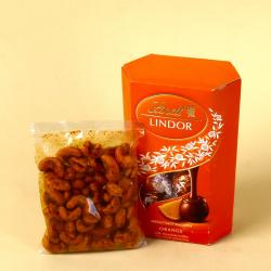 Lindt Lindor Chocolate Box with Masala Cashew for Hyderabad
