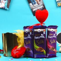 Love Treat of Dairy Milk Silk Chocolates for Agra