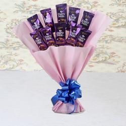 Loving Gesture of Dairy Milk Bouquet for Hospet