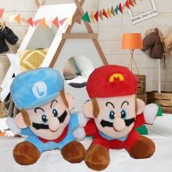 Luigi and Mario Bros Plush Doll Stuffed Toy for Pune