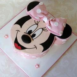 Minnie Micky Face Cake for Dombivli