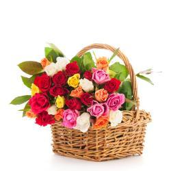 Mix Color Roses Basket for Gandhinagar