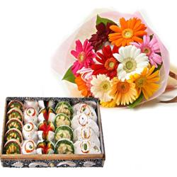 Mix Gerberas with Sweets for Bankura