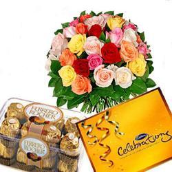 Mix Roses and Chocolates Combo for Raichur