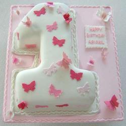 Number Shape Vanilla Cake for Madras