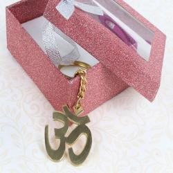 Om Keychain for Gandhinagar