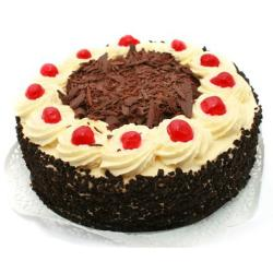 One Kg Designer Cherry Black Forest Cake for Thanjavur