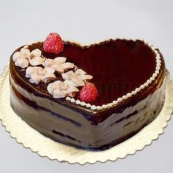 Paleo Heart Shape Fresh Cream Cake for Moradabad