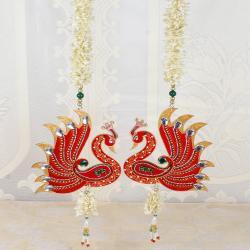 Peacock Design of Shubh Labh Door Hanging for Belgaum