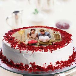 Personalised Red Velvet Photo Cake for Hyderabad