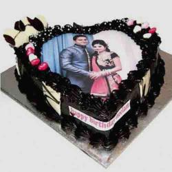 Personalized Romantic Photo Cake for Imphal