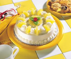 Pineapple fruit cake for Pune