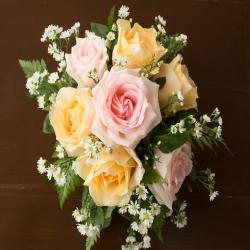 Pink And Yellow Roses Bouquet for Vasco Da Gama