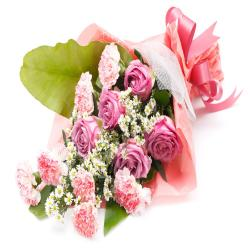 Pink Flower Bouquet for Vasco Da Gama