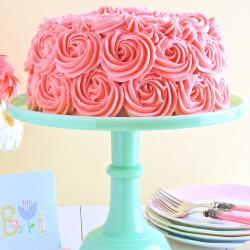 Pink Rose Strawberry Cake for Bharuch