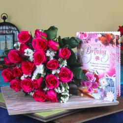 Pink Roses Birthday Gift for Bhopal