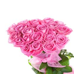 Pink Roses in Bouquet for Delhi