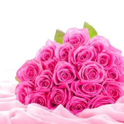 Pretty 20 Pink Roses for Gandhinagar