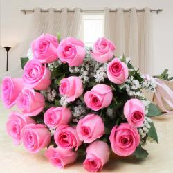 Pretty Pink Roses Bouquet for Coimbatore