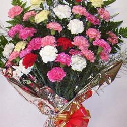 Rainbow Carnation Bouquet for Gandhinagar