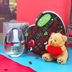 Rasasi Hope Parfum and I Love You Heart Shape Chocolate with Love Teddy Bear Combo for Her for Bharuch