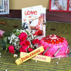 Romantic Valentine Gift Combo for Chandigarh