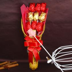 Rose Shaped Homemade Chocolates Bouquet for Thanjavur