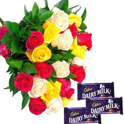 Roses and Cadbury dairy Milk Chocolate for Lucknow