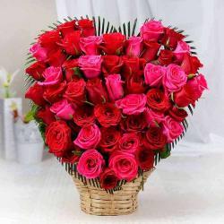 Roses in Heart Shape Arrangement
