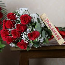 Roses with Chocolate Hamper for Indore
