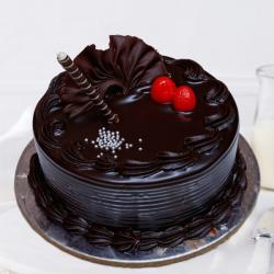 Round Shape Dark Chocolate Cake Online for Ghaziabad
