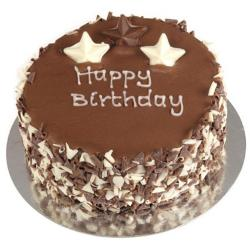 Round Shaped Chocolate Birthday Cake for Jalandhar