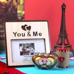 Royale Chocolates with You and Me Photo Wooden Frame for Ghaziabad