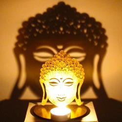 Shadow Diya Tealight Candle Holder of Removable Buddha for Lucknow