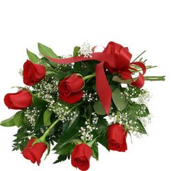 Six Red Roses Bouquet for Thanjavur