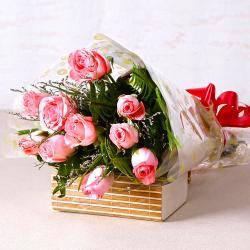 Soft Pink Roses Bunch for Jalandhar