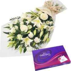 Sorry Bouquet with Chocolate Treat for Bharuch