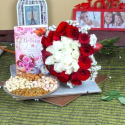 Special Birthday Dryfruit and Roses Gift for Jaipur